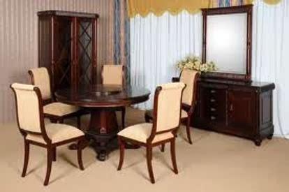 desain interior meja makan desain interior ruang makan meja makan model lingkaran