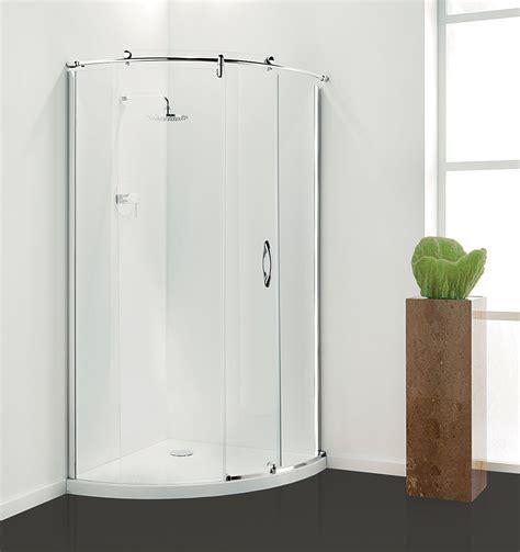 850mm Shower Door Coram Premier Frameless Crescent Sliding Door Shower Cubicle Tray Option Tewp