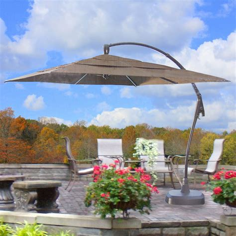 Lowes Patio Gazebo Costco Square Cantilever Umbrella Replacement Canopy