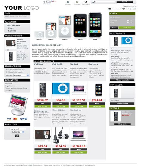 membuat web ecommerce dengan prestashop 10 free prestashop themes for your e commerce sites