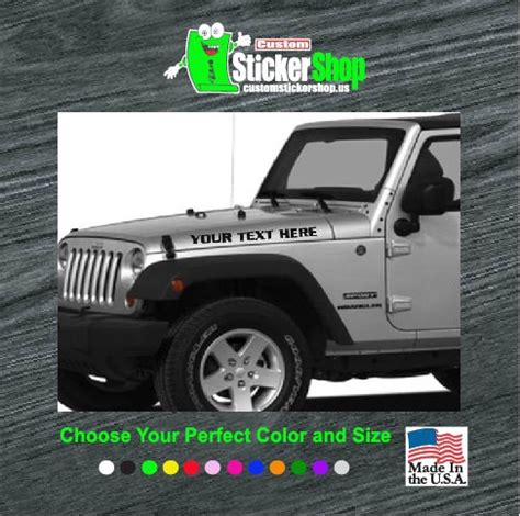 jeep decal stickers jeep set custom text vinyl decal stickers