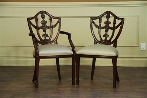 solid mahogany shield  chairs antique style dining