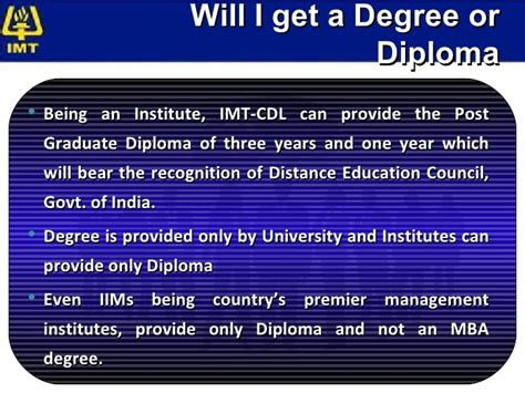 Imt Ghaziabad Distance Learning Mba Review by Imt Cdl Programme Guide