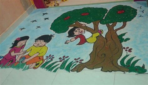 Diwali Home Decoration Idea by Competition Rangoli Design Rangoli Rangoli Design With