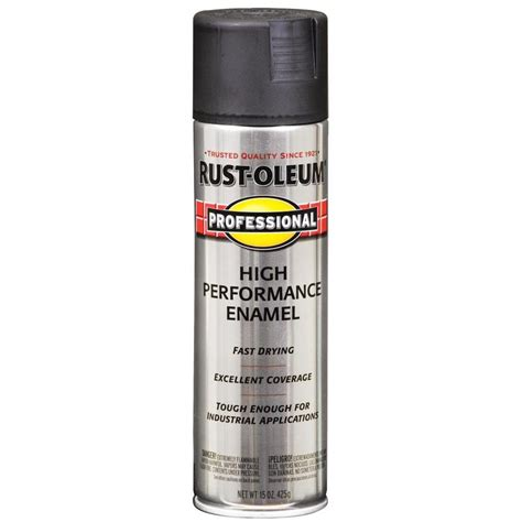 shop rust oleum professional black enamel spray paint actual net contents 15 oz at lowes