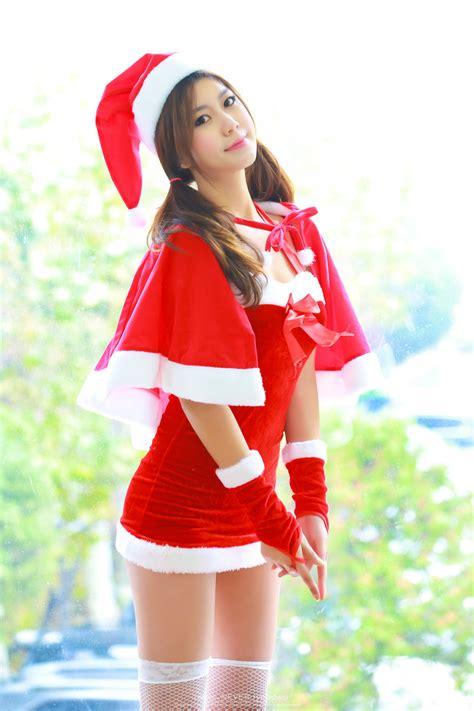 ban ji hee merry christmas cute girl asian girl