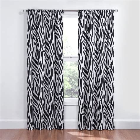 print curtains blackout zebra print animal window treatment drape curtain