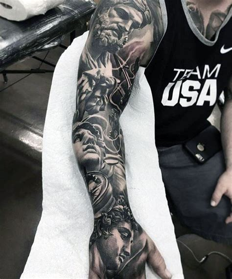 greek god sleeve tattoos 70 unique sleeve tattoos for aesthetic ink design ideas