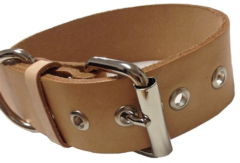 Handmade Leather Collars For Dogs - handmade leather collar 1 quot wide