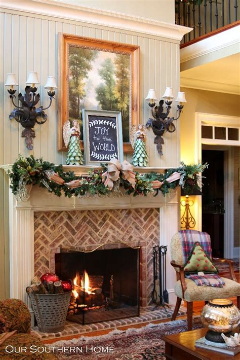decoration fireplace southern christmas home tour part 1 fireplaces patterns