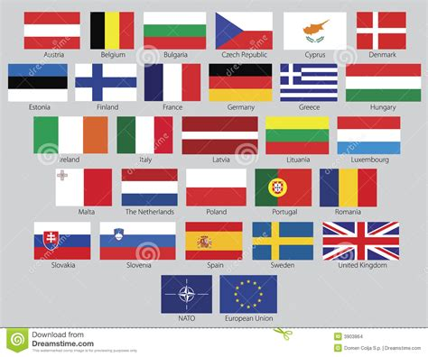 flags of the world european union vector european union flags stock images image 3903864