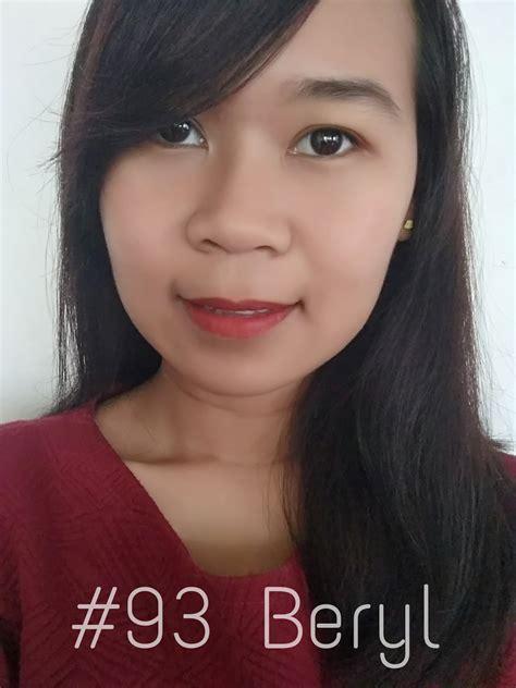 Lipstik Purbasari Safir purbasari matte lipstick 85 safir dan 93 beryl review swatch pejalan kaki