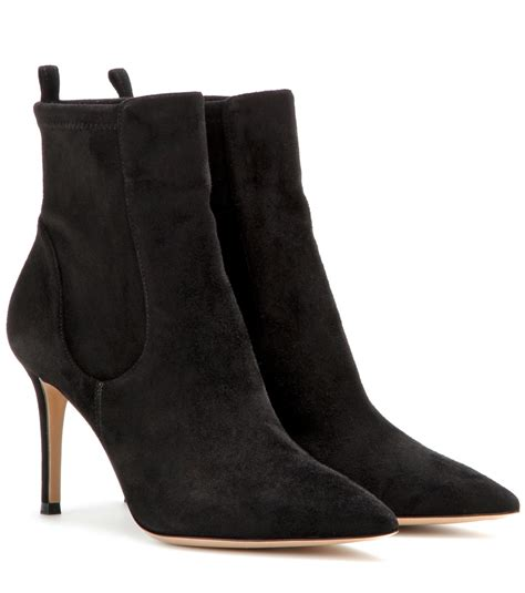 gianvito suede boots gianvito suede ankle boots in black lyst