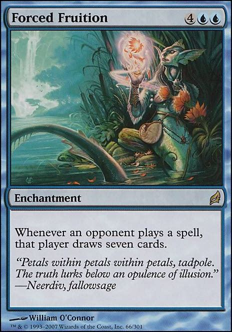 Forced Magic forced fruition lrw mtg card
