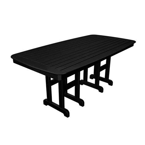 home styles biscayne 72 in x 42 in black oval patio