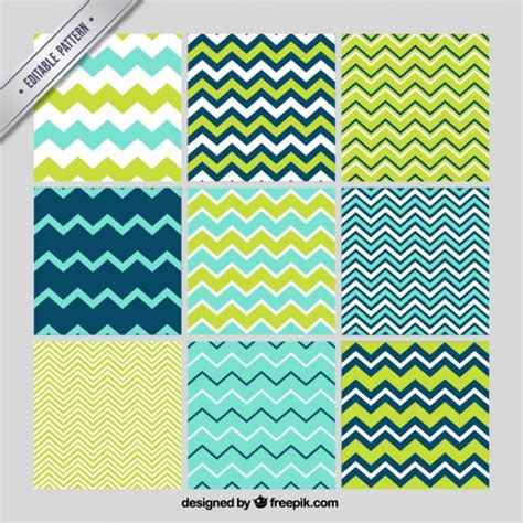 zigzag pattern line set of zig zag lines patterns vector free download
