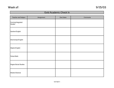 homework booklet template