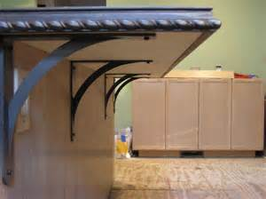 kitchen island brackets how to support a loooong desk made of bb from ikea