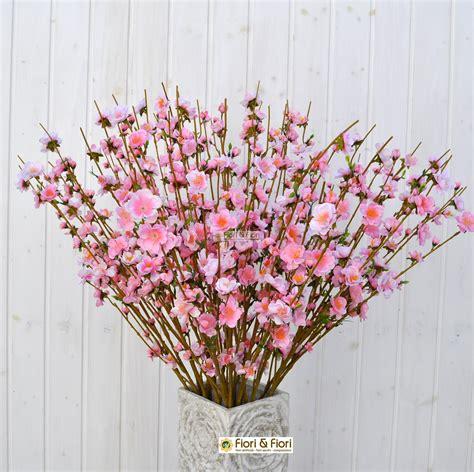 fiore pesco fiore di pesco rosa artificiale in tessuto per arredamenti