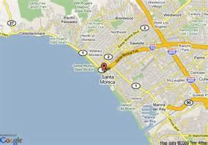 where is santa california on the map map of loews santa hotel santa