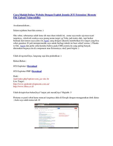 Mudah Membangun Web Profil Multibahasa Cd cara mudah deface website dengan exploit joomla jce extension