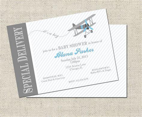 Airplane Baby Shower Invitation Printable Airplane Airplane Baby Shower Invitation Templates