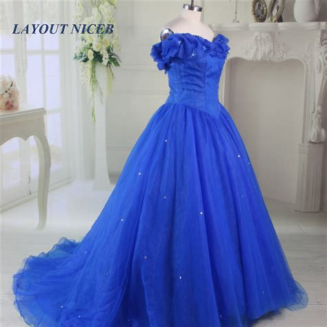 Longdress Cinderella Blue Butlerfly aliexpress buy 2017 quinceanera gowns royal blue princess gown prom dresses