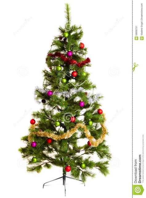 isolated christmas tree decorations 2016 happy new year