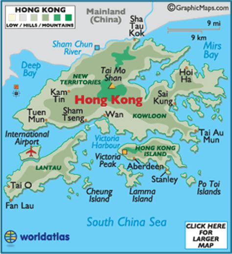 5 themes of geography hong kong hong kong large color map