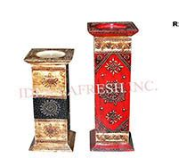 wooden candle holders   price  india