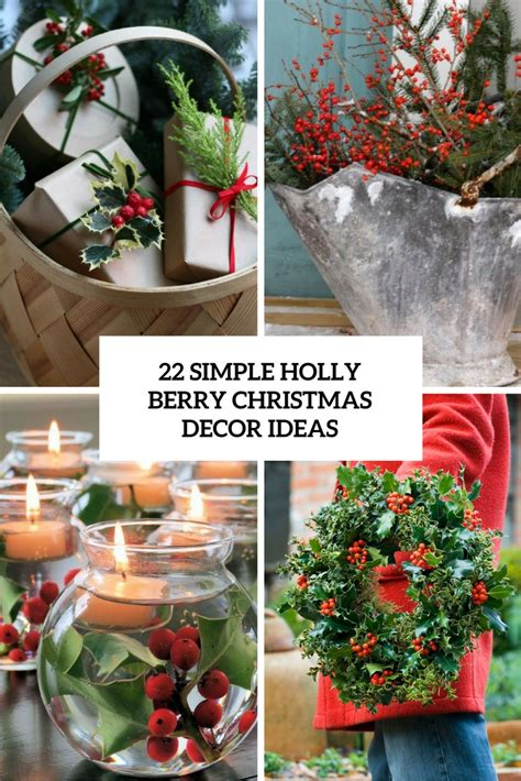 decorating christmas trees with berries 22 simple berry d 233 cor ideas shelterness