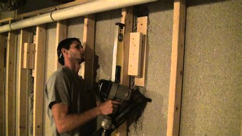 how to install blocking in basement wood blocking installation special wall framing situations