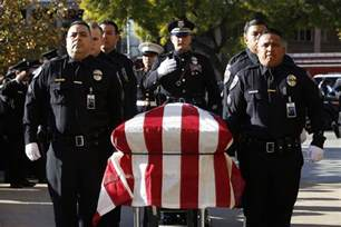 funeral for downey officer ricardo galvez la times