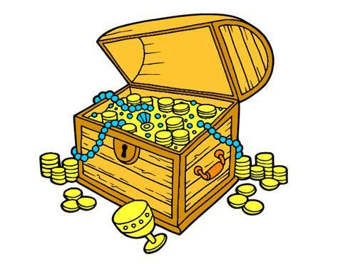 dibujo de un tesoro dibujo de el cofre del tesoro pintado por gissel1199 en