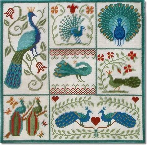 Patchwork Kits - tapestry and needlepoint kits shaker patchwork peacocks
