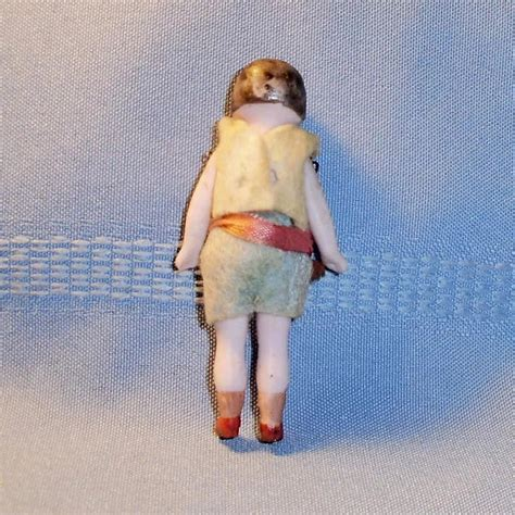 3 inch bisque doll antique 3 inch german molded hair all bisque doll