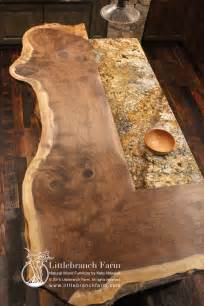 Natural wood countertops   live edge wood slabs   Littlebranch Farm