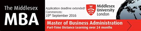 Executive Mba Distance Learning Uk by Distance Learning Mba From Middlesex The