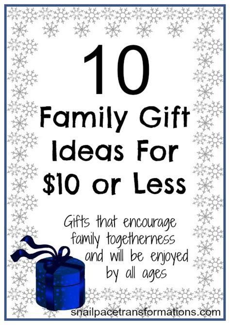 gift for family 10 family gifts for under 10 snail pace transformations