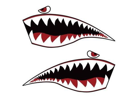 Aufkleber Honda Hawk by Warhawk Sticker Decal Flying Tiger Shark Teeth Fighter Jet