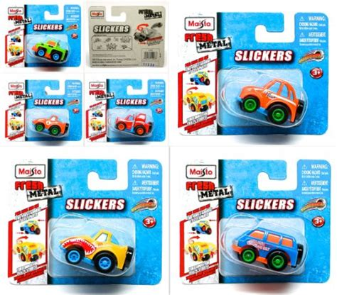 Fresh Metal Slickers slickers 2 quot mini size cars set of 6 pull back powered motor 2013 maisto fresh metal