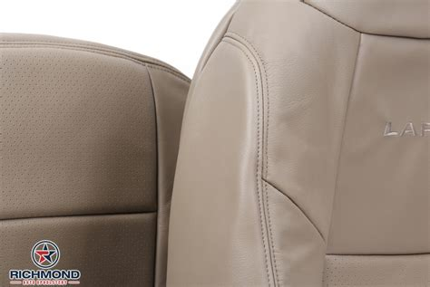 ford   lariat perforated leather seat cover driver side complete set tan richmond