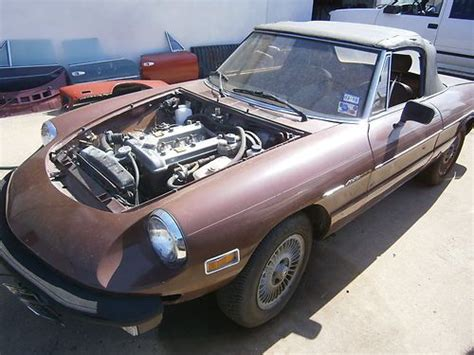 alfa romeo parts purchase new 1979 alfa romeo spider parts car in fort
