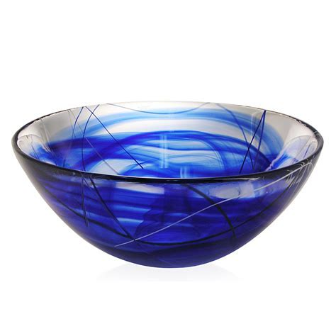 Kosta Boda   Contrast Bowl Blue Large
