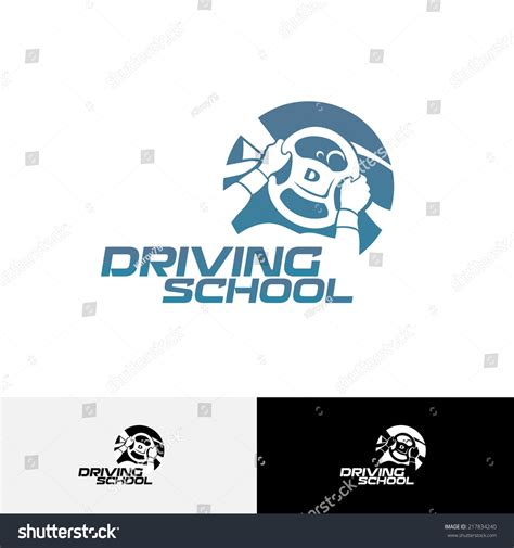 school logo design template driving school logo template stock vector illustration