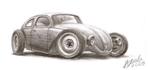 volkswagen bug drawing vw beetle volksrod by nozols on deviantart
