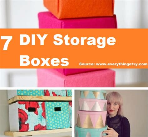 7 diy storage boxes get organized 7 diy storage boxes home and life tips