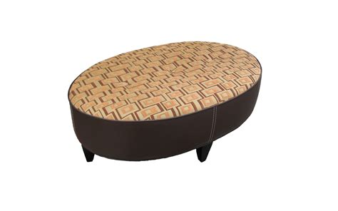 oval ottoman with storage main st oval ottoman arizona leather interiors