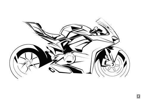R Sketches by The Design Sketches For The Ducati Panigale V4 Are