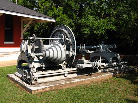 selma railroad depot museum 2008 cannon lathe flickr